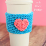 Crochet Coffee Cup Cozy Pattern with Heart