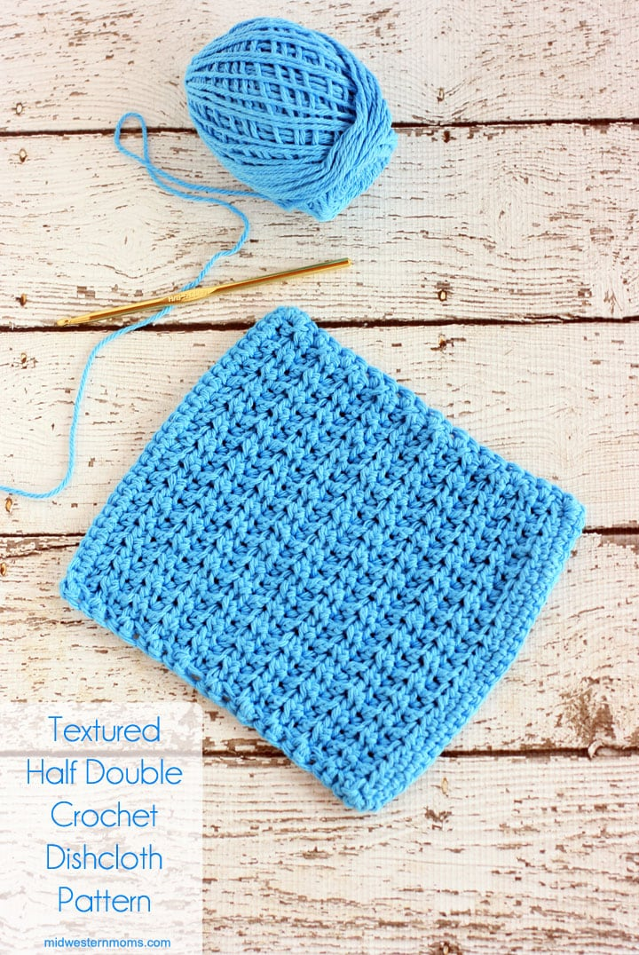 Free Textured Half Double Crochet Dishcloth Pattern