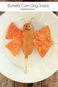 Butterfly Corn Dog Snack Idea