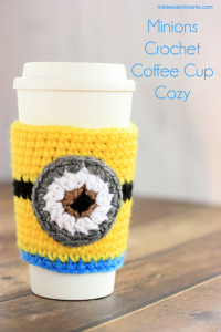 Minions Coffee Cup Cozy Pattern
