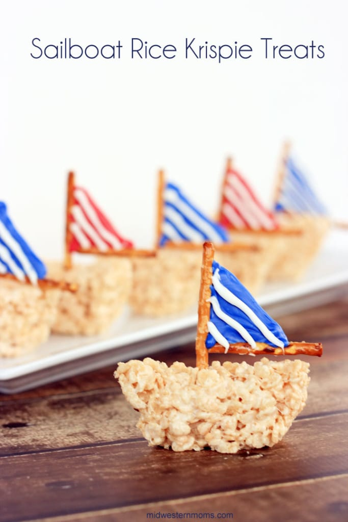 Sailboat Rice Krispie Treats