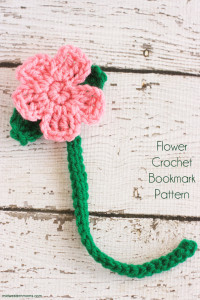 Cute little flower crochet bookmark pattern