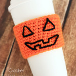 Crochet Halloween Coffee Cup Cozy Pattern