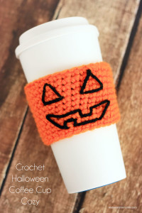Get your coffee in the Halloween Spirit with this Easy Crochet Halloween Coffee Cup Cozy Pattern.
