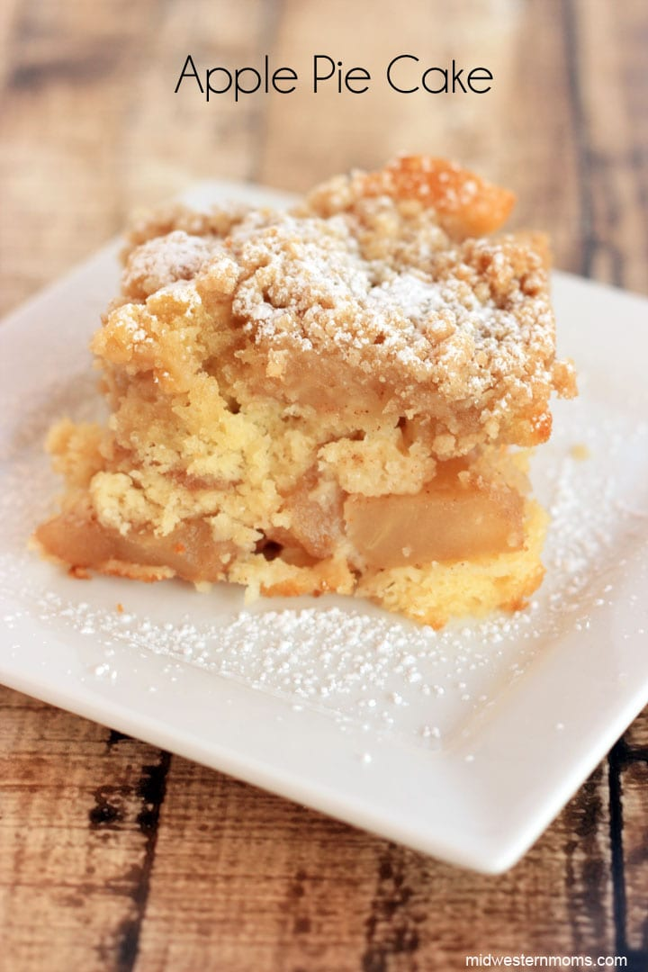 My Favorite Part About This Apply Pie Cake Is The Crumble Topping Mixed With Softness