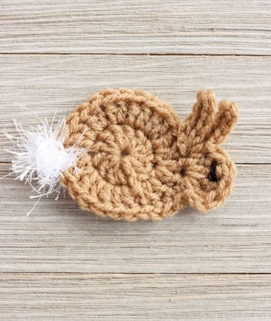 Easy Crochet Bunny Applique Pattern