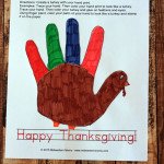 Hand Print Turkey Craft for Preschoolers