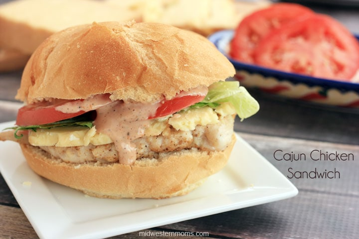 Cajun Chicken Sandwich Recipe. Cajun Chicken and Spicy Mayo with the works. Quick to make and a must try recipe!