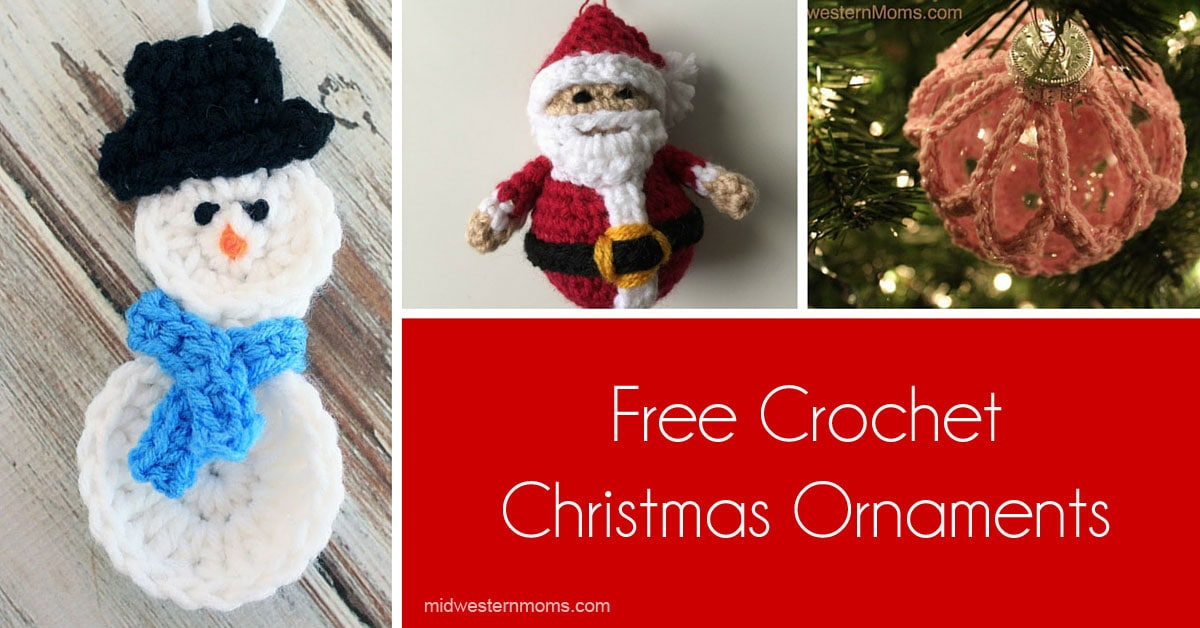 Free Crochet Patterns For Christmas Decorations : Free Crochet Christmas Ornaments Patterns - Midwestern Moms