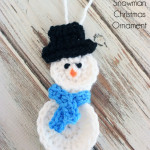 How To Crochet A Snowman Christmas Ornament