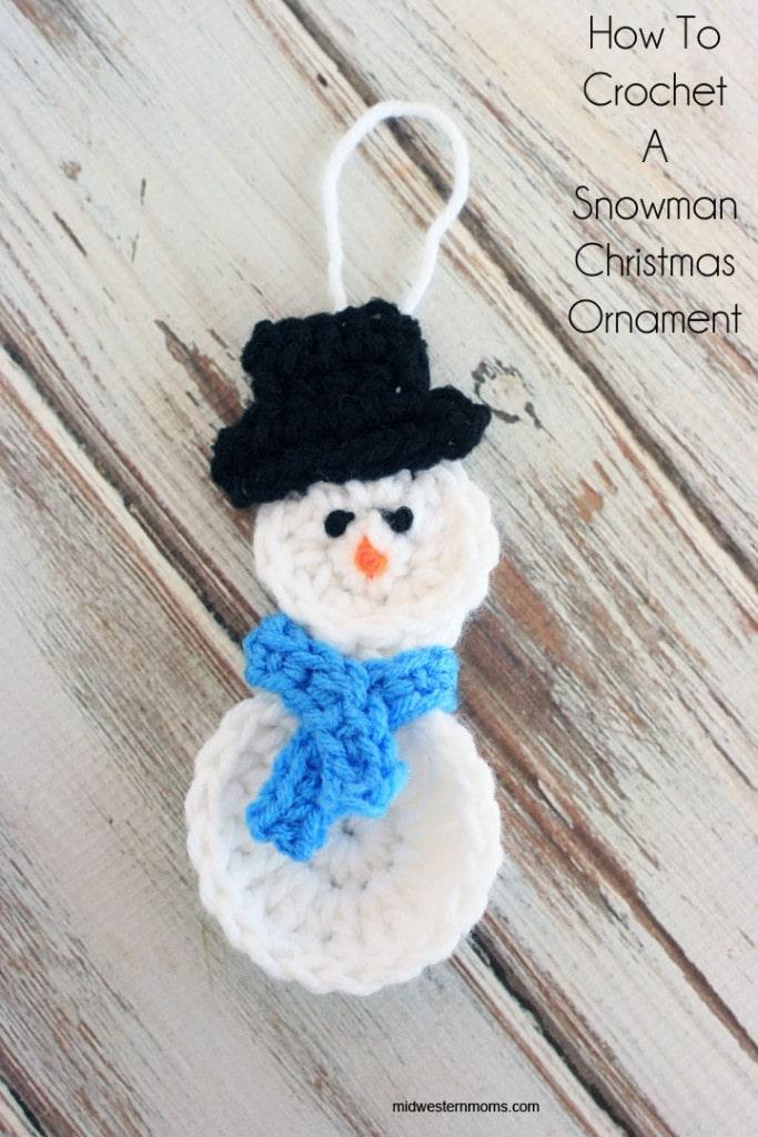 How To Crochet A Snowman Christmas Ornament