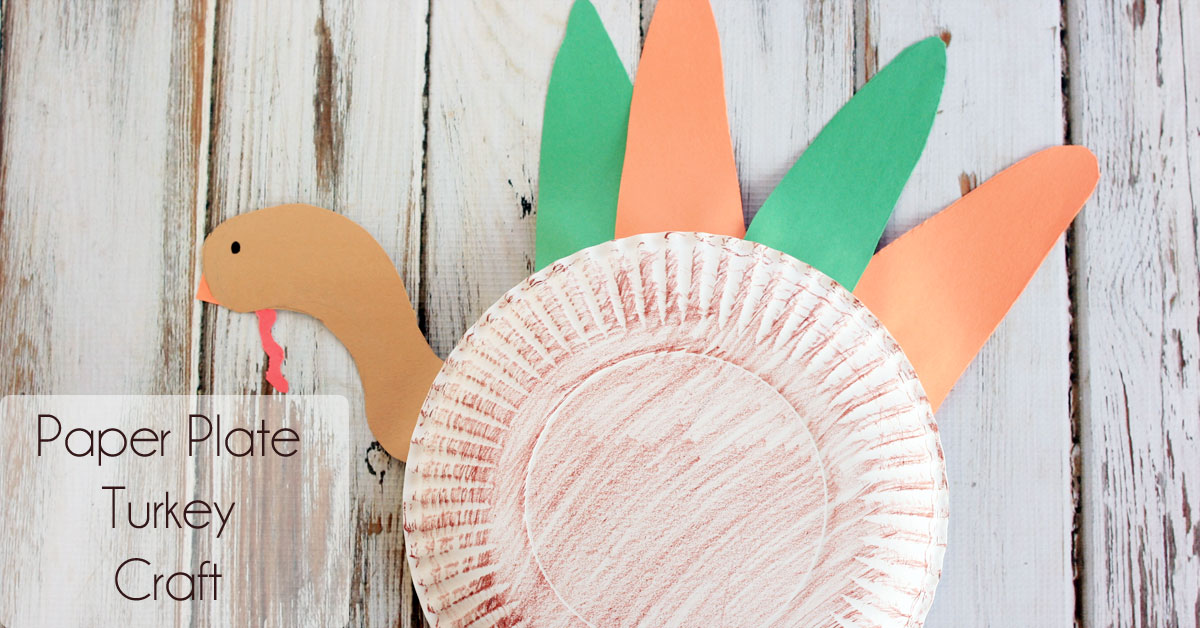 Paper plate turkey craft for preschoolers midwestern moms for Turkey country arts and crafts