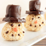 Snowmen Rice Krispie Treats
