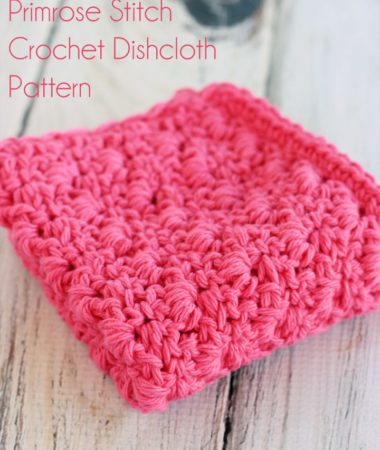 Free Primrose Stitch Crochet Dishcloth Pattern! Love how this dishcloth looks!