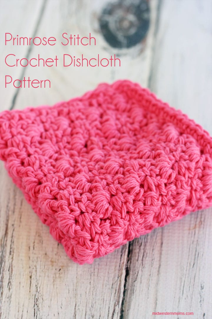 Free crochet dishcloth pattern that uses the Primrose stitch!