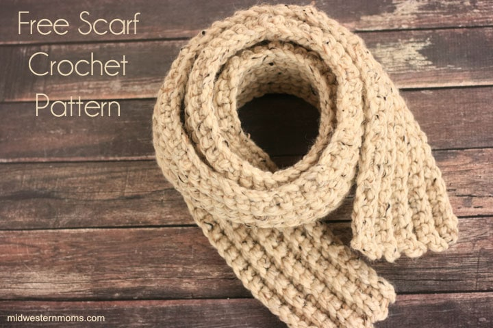 Stay warm with this free scarf crochet pattern. Easy for beginners.