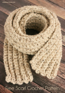 Stay warm this winter with this Free Scarf Crochet Pattern.