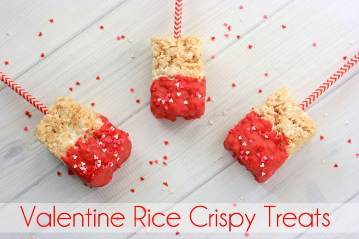 Simple Valentine Rice Crispy Treats Recipe. Perfect for your Valentine.