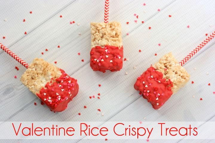 Simple Valentine Rice Crispy Treats Recipe. Perfect for your Valentine.