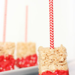 Valentine Rice Crispy Treats are simple to make. They are also party favorite.