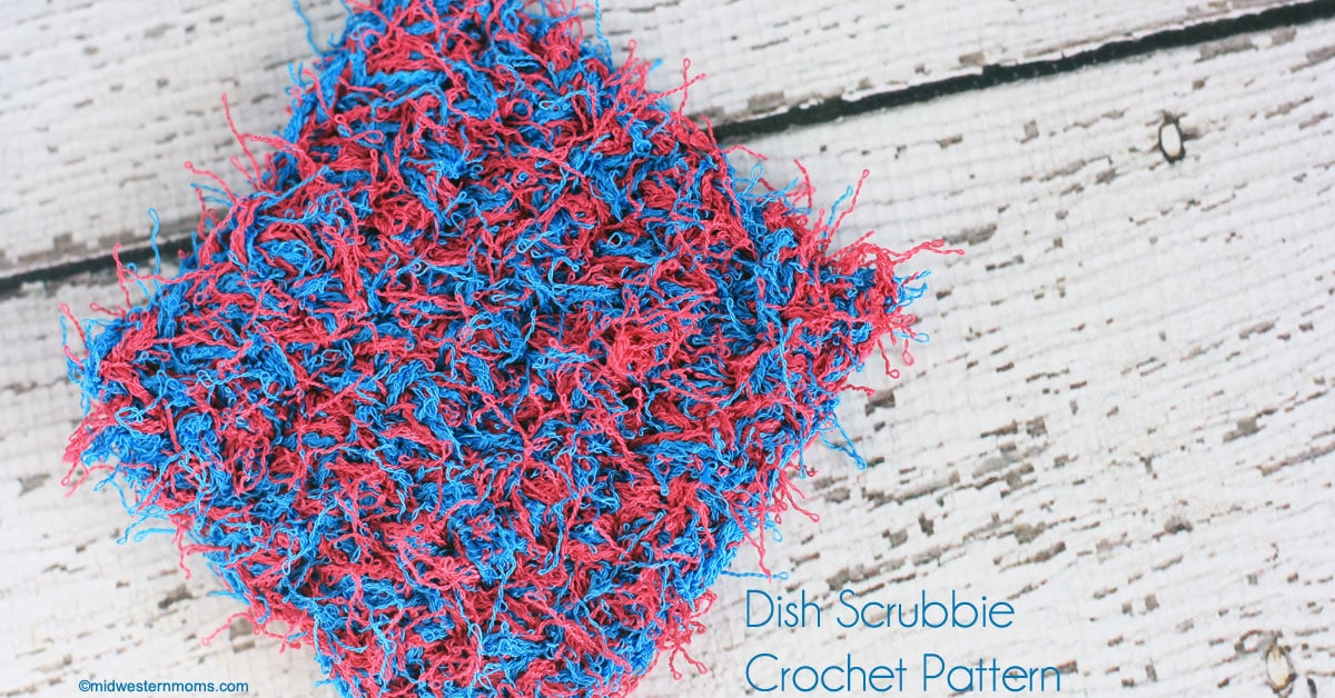 Easy Dish Scrubbie Crochet Pattern