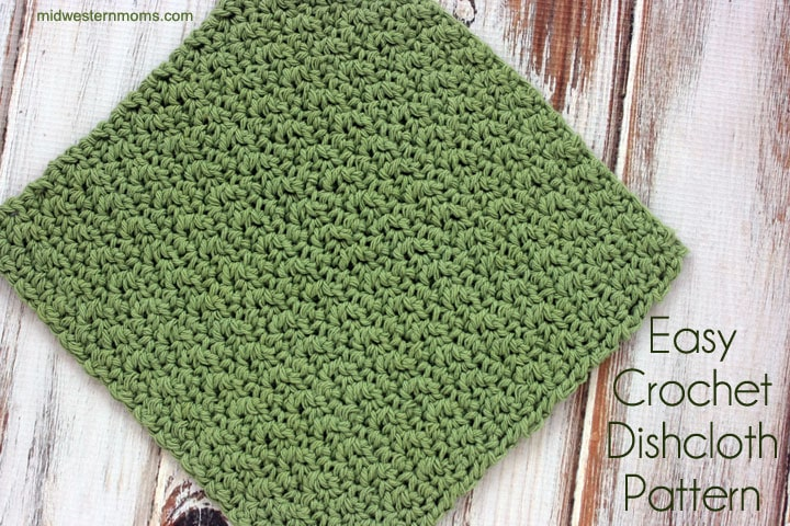 Easy Crochet Dishcloth Pattern Midwestern Moms Cool Best Crochet Dishcloth Pattern