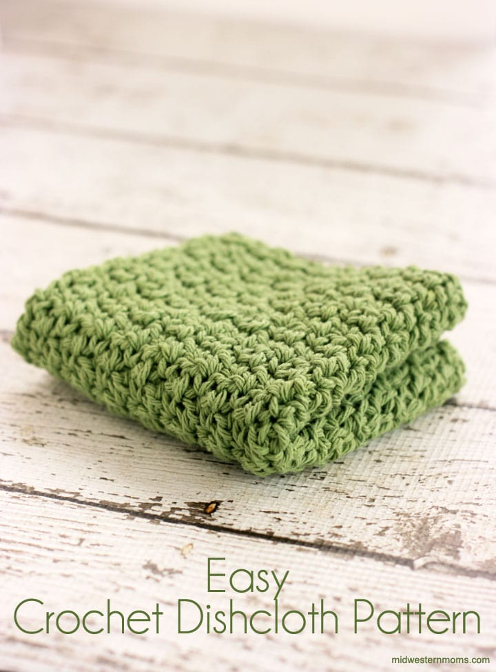 Easy Crochet Dishcloth Pattern Midwestern Moms