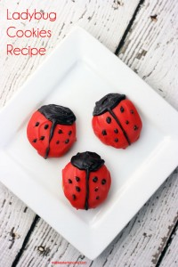 Easy Ladybug Cookies Recipe. So easy that you don't even have to turn the oven on!!