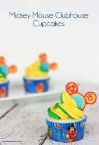 Mickey Mouse Clubhouse Cupcakes recipes - Perfect for a little one's birthday party!!!