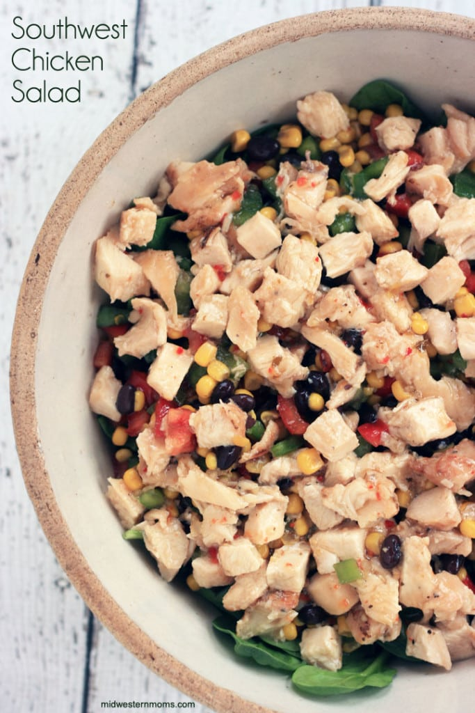 Quick and easy Southwest Chicken Salad Recipe. This salad is pack full of flavor your whole family will love!