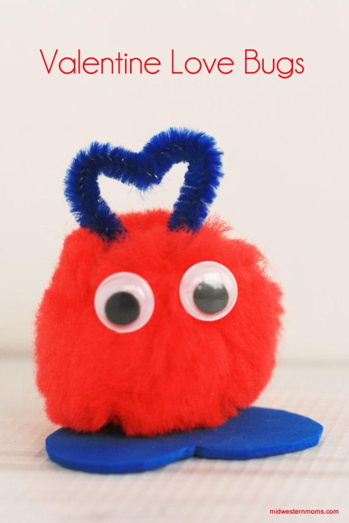 How CUTE! Easy to make Valentine Love Bugs. Kids will enjoy making these fun bugs.
