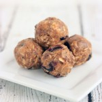 No-bake granola balls with craisins make for a simple and tasty snack!