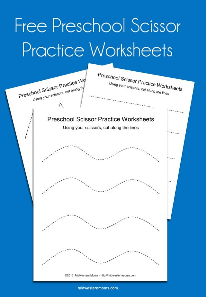 Preschool Scissor Practice Worksheets