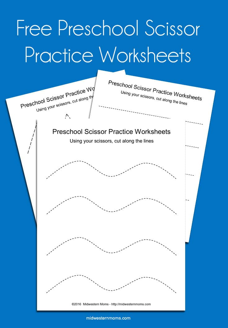 Scissor Practice Worksheets Cutting Shapes Midwestern Moms