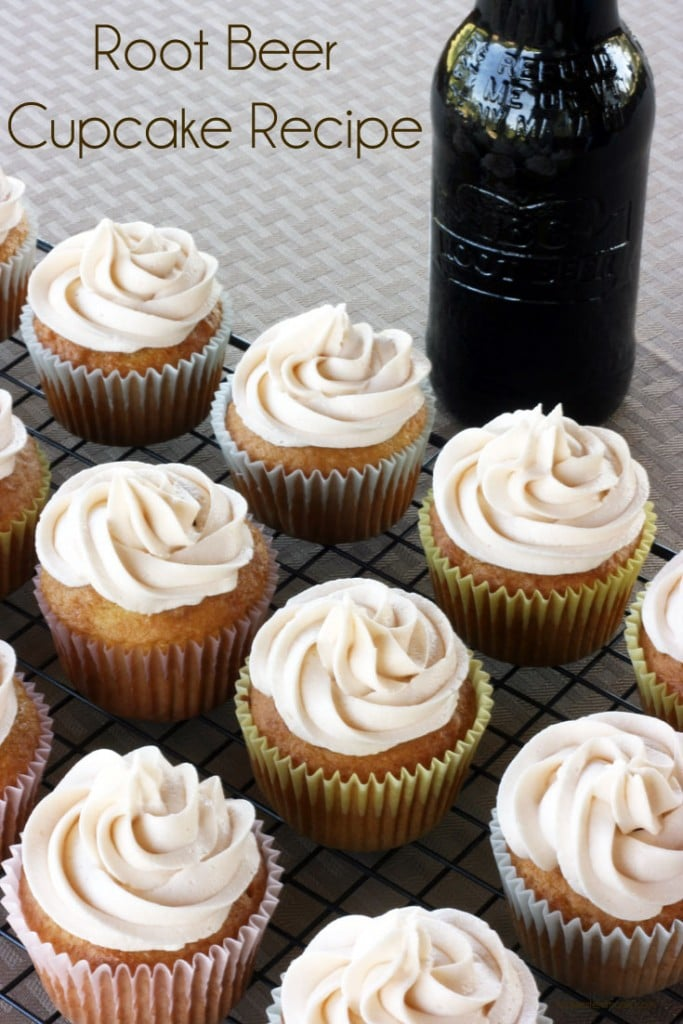 A Simple Root Beer Cupcake Recipe. This recipe has the perfect amount of root beer flavor for them. Made from a doctored up cake mix.