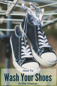 Stinky shoes? Learn how to wash your shoes in the washer.
