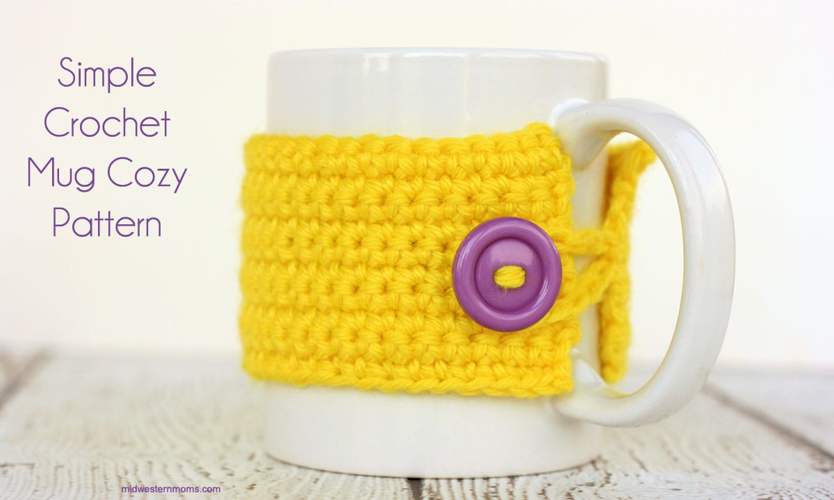 Simple Crochet Mug Cozy Pattern
