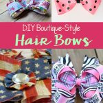 DIY Boutique Style Hair Bows