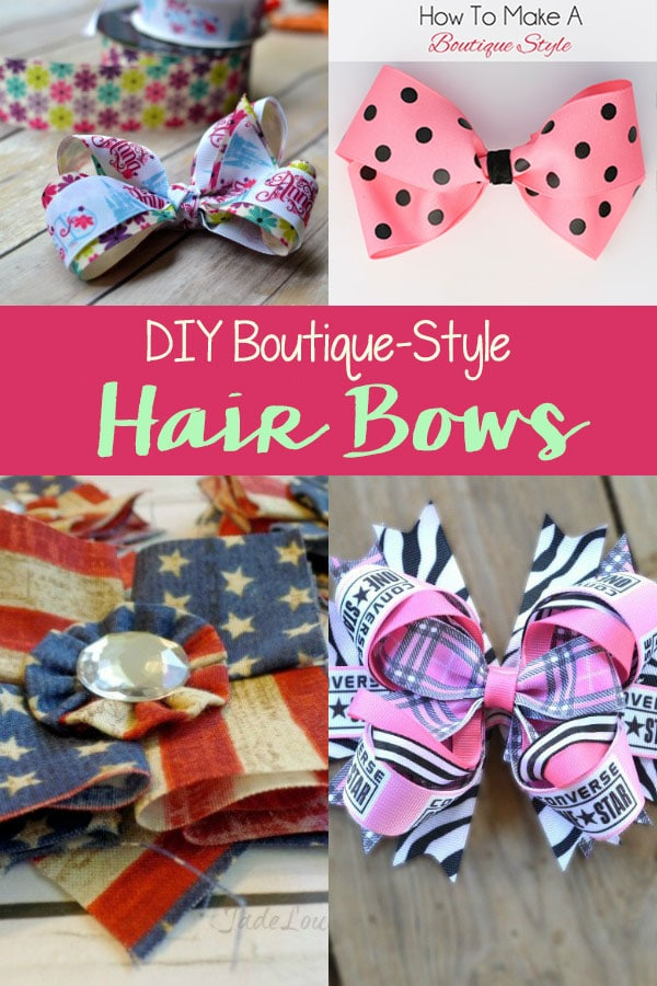 DIY Boutique Style Hair Bow Tutorials