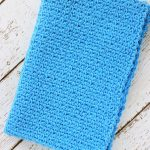 Moss Stitch Crochet Dish Towel Pattern