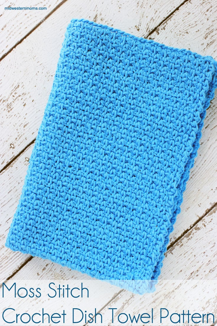 Moss Stitch Crochet Dish Towel
