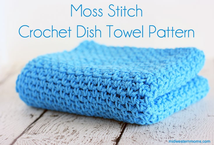 Free Moss Stitch Crochet Dish Towel Pattern. Love this stitch! Makes a beautiful design.