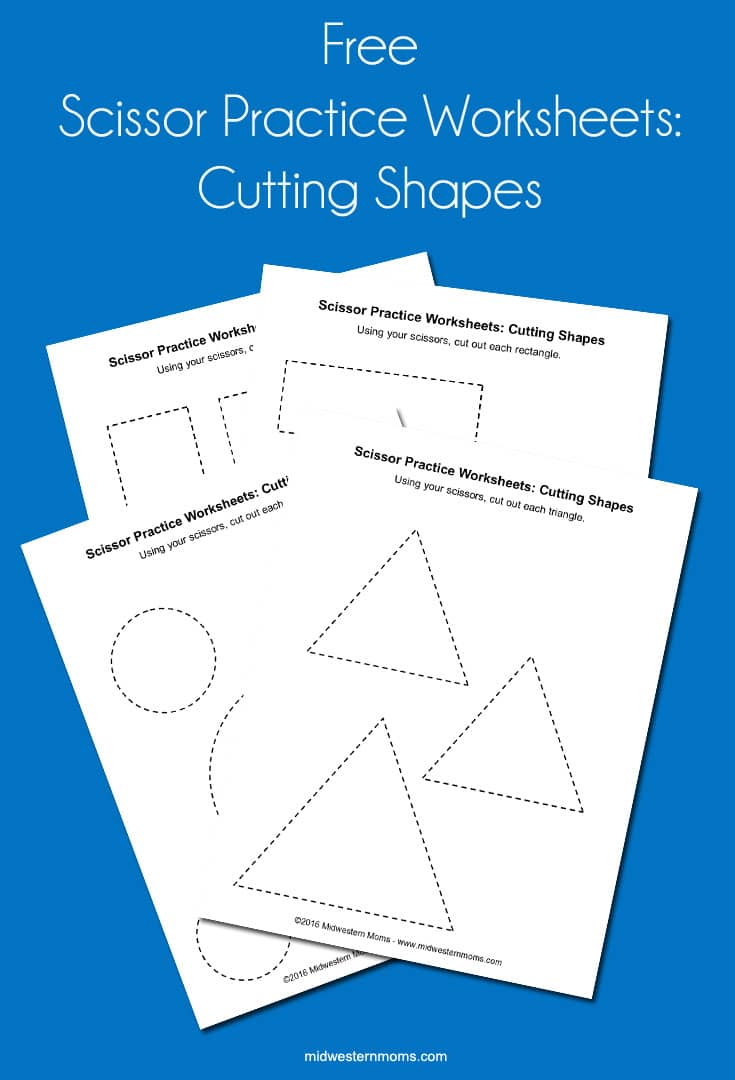 Scissor Practice Worksheets: Cutting Shapes - Midwestern Moms