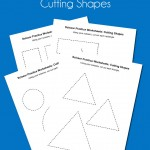 Scissor Practice Worksheets: Cutting Shapes