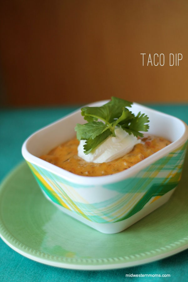If you enjoy hearty dips during the fall, this Taco Dip is sure to deliver. You can make it as mild or spicy as you like and serve with tortilla chips. This is the perfect game-day dip to serve to a crowd, or take with you to a friend's house.