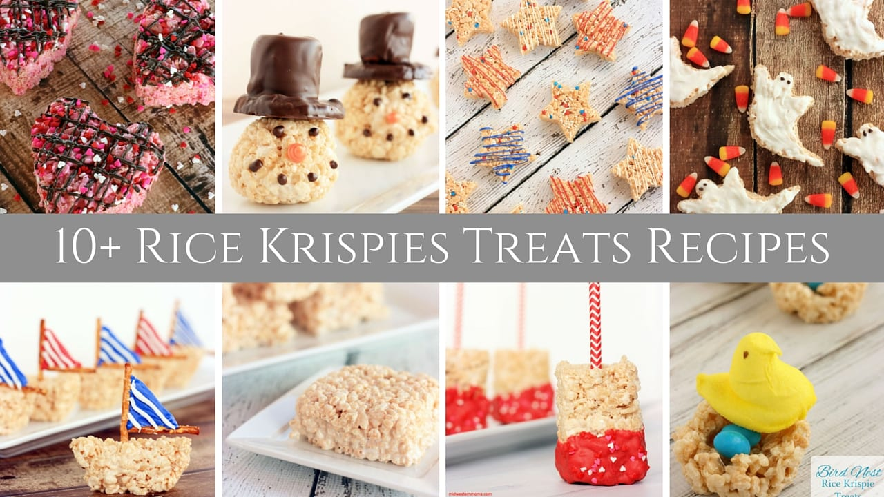 Rice krispies treats recipes midwestern moms for Different ways to make rice krispie treats