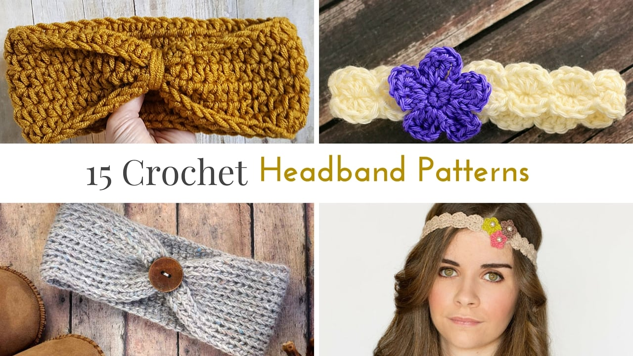 15 Free Crochet Headband Patterns - Midwestern Moms
