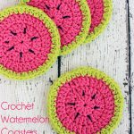 Crochet Watermelon Coasters Pattern