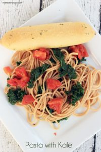Simple Pasta with Kale to change things up on spaghetti night! Only 3 ingredients need!!