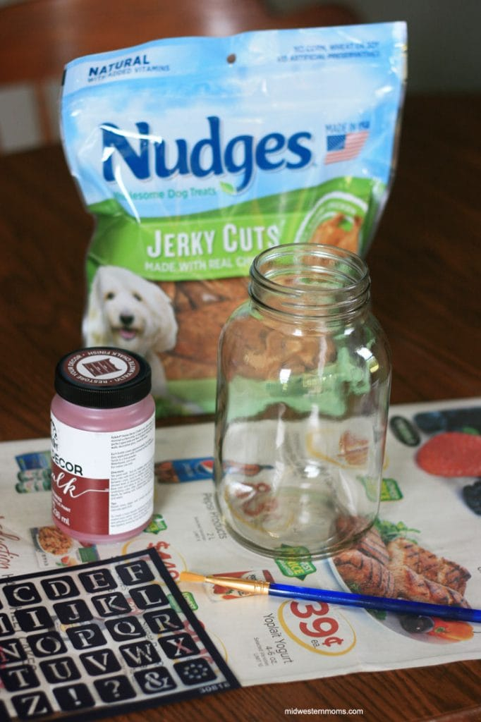 DIY Dog Treat Jar Supplies